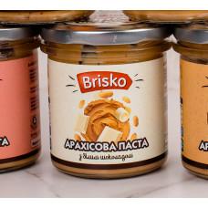 Арахисовая паста с белым шоколадом ТМ Brisko (Украина) Вес:1кг