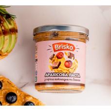 Арахисовая паста с черным шоколадом и вишней ТМ Brisko (Украина) Вес: 1кг